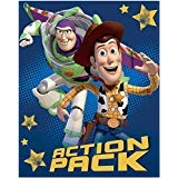 (Children Toddler Disney Toy Story Action Pack Super Soft Plush Silk Touch Sherpa Blanket)