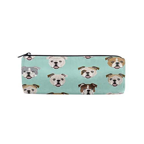 Pencil Bag Makeup Bag Stupid Funny English Bulldog Pencil Case Pen Zipper Bag Pouch Holder Makeup Brush Bag for School Work Office