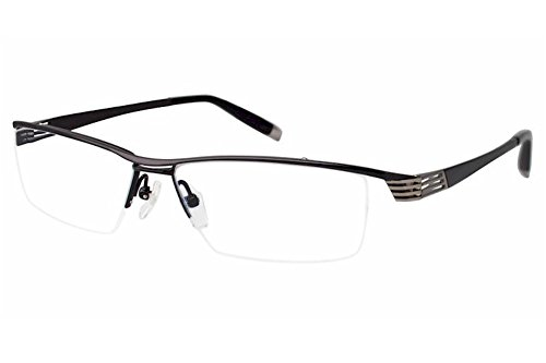 Charmant Z Eyeglasses ZT11771R ZT/11771R BK Black Half Rim Optical Frame - Charmant Z