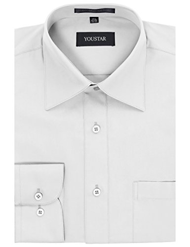 33 Wrinkle Free Dress Shirt (Regular Fit Dress Shirt White - Neck 16.5 Sleeve 32/33)