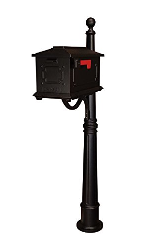 Kingston Curbside Mailbox with Ashland Mailbox Post Unit Color: Black by Special Lite Products
