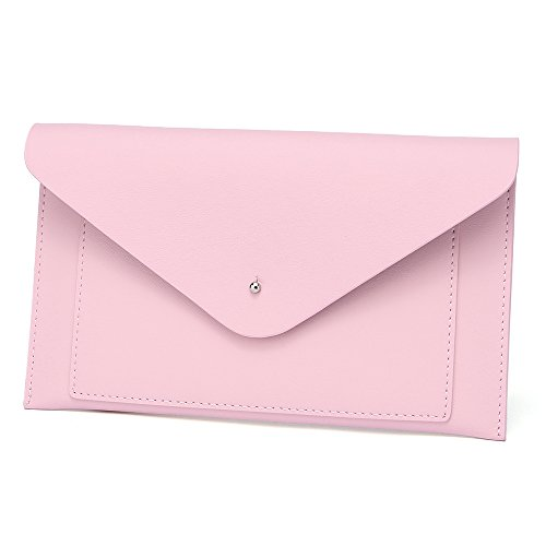 Womens Envelope Clutch Wallet Leather Card Phone Coin Holder Organizer, Pink by Paraweyse