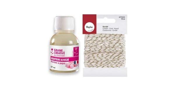 Perfume para Velas 27 ml Aroma Algodón de azúcar + Cordel Dorado ...