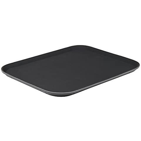 Foodservice Essentials NST-1014BK Non-Slip Plastic Fast Food/Cafeteria Tray, 10-Inch x 14-Inch, (Cafeteria Trays)
