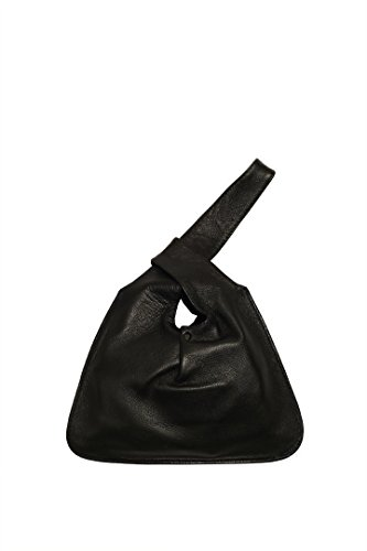 Lily and Lola Baby Jane Wristlet Bag in Black Lamb Leather by Lily and Lola Handbags