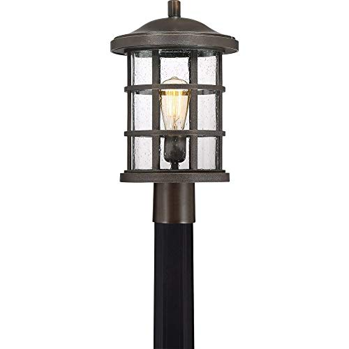 - Quoizel CSE9010PN Crusade Outdoor Post Mount, 1-Light, 150 Watts, Palladian Bronze (17