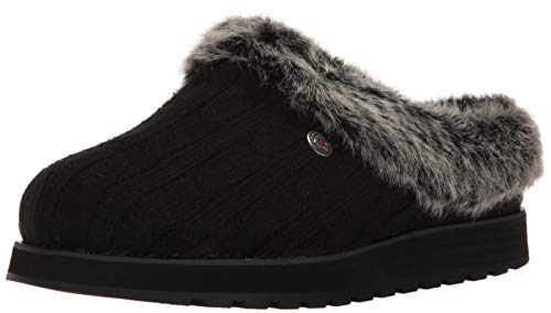 BOBS from Skechers Women's Keepsakes Ice Angel Slipper, Black, 6 M - Angels Winter Boots