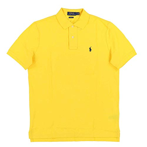 Polo Ralph Lauren Classic Fit Mesh Polo (Small, Yellow)