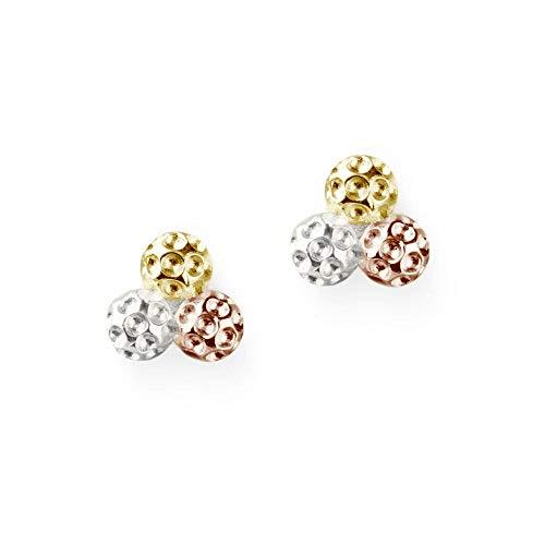 Golf Ball Cluster Earrings - Tri Color