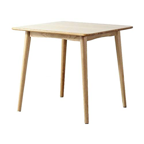 - Dining Table Round CoffeeTables Modern Leisure Solid Wooden Tea Kitchen Pedestal Bar Kitchen Furniture CJC (Color : Wooden Color, Size : 90x90x75cm)