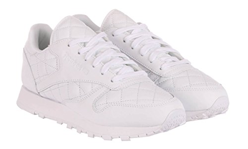 Reebok Mujeres Classic Leather Acolchado Blanco