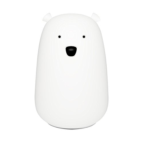 Nursery Hugs Bear (Night Light Lamp LED Lighting Cartoon Lauco Cute Bear,Silicone Multicolor USB Rechargeable Soft Nursery Lamp for Baby Kids Toddler Boys Girls,and Sensitive for Bedroom or Bed,Kitchen-Tap Control)