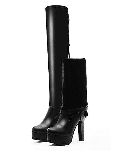 Negro Moto Zapatos A Mujer us6 Vestido Y Fiesta Tacón Xzz Black La Moda Cn39 Sintético Eu39 Eu36 Black Uk6 Noche us8 Casual De Uk4 Cn36 Botas Stiletto xaYwdEzdq