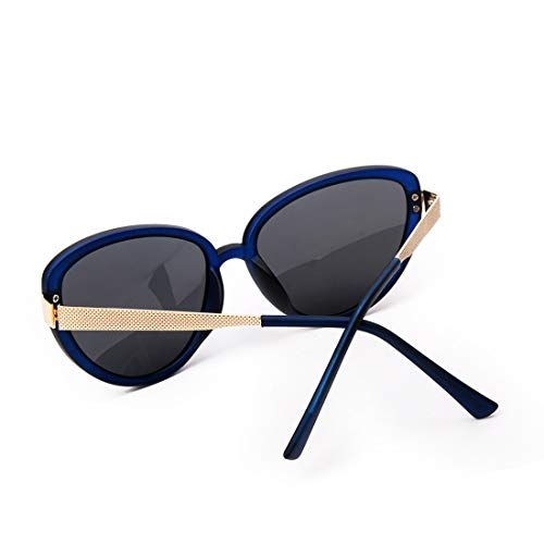 Style Color Frame Lens Femmes Tea Blue Oversized Eyes Vintage polarisées Soleil Lens Frame Borrow de Soleil Cat Lunettes LiShihuan Lunettes pour Black Retro de gxzzwA