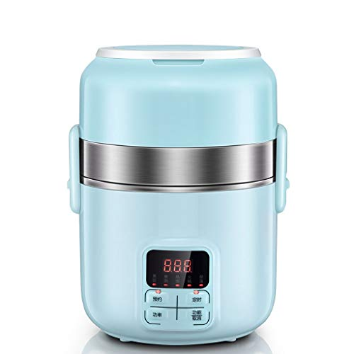 Lei Mini (Electric Lunch Box Heating And Insulation 3 Layers, Appointment Timing Mini Rice Cooker, All Steel Inner Wall And 3 Stainless Steel Container)