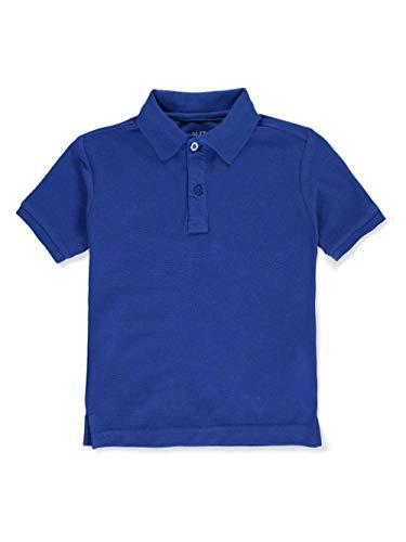 Nautica Little Boys' School Uniform Pique Polo - Royal Blue, 6