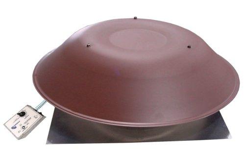 Lomanco Brown Ol 2000 2000Br Standard Roof Mount Power Ventilator, Aluminum