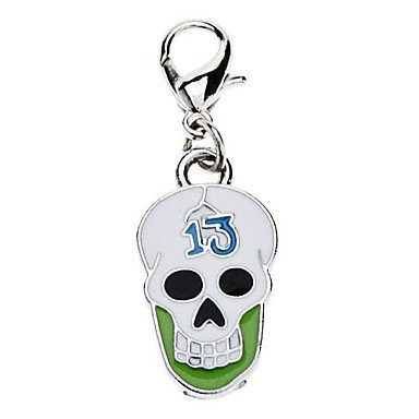 Feng The Thirteen Skull Style Collar Charm for Dogs Cats (Random Color)