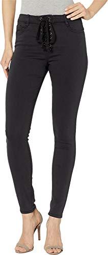 - bebe Womens Fever Tie Jeans in Black Black 28 28