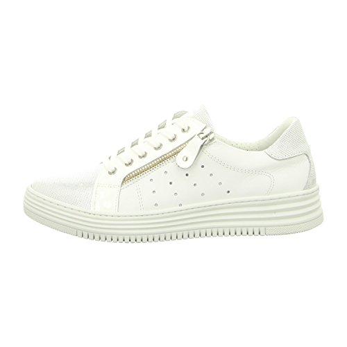 BULLBOXER 420003e5l_whwh - Zapatos de cordones de Piel Lisa para mujer blanco/blanco