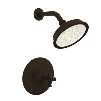 Aylesbury/Jacobean Pressure-Balanced Shower Trim with Cross Handle Finish: Oil Rubbed Bronze by Newport Brass