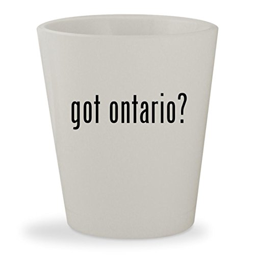 got ontario? - White Ceramic 1.5oz Shot Glass