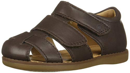 (Stride Rite Emerson Boy's Closed-Toe Sandal, Brown, 6.5 W US)