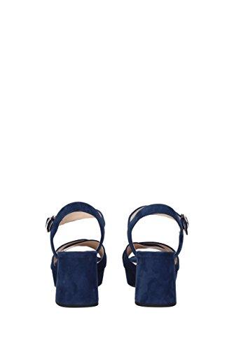 Blau Wildleder Prada Sandalen EU 1XP890 Damen CTwfOXq6