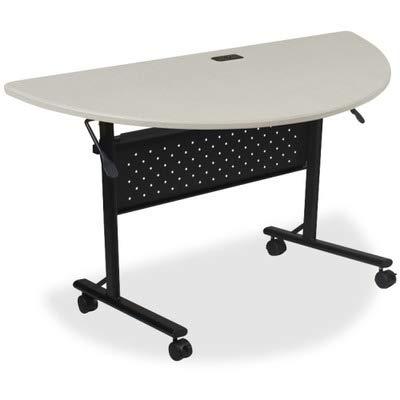 Lorell LLR60671 Flipper Training Tables, 46'' Height X 8'' Width X 8'' Length, Silver