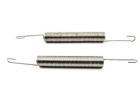 LUOYIMAO 67mm x 10mm x 1.1mm Metal Dual Hook Tension Spring Gray 10pcs