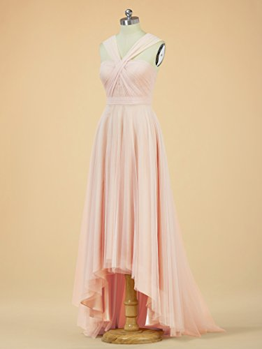Neck Gown Dress Dress Tulle Y Prom Bridesmaid Party Hi Alicepub Gray Bridal Lo Evening 7UI5qnxv