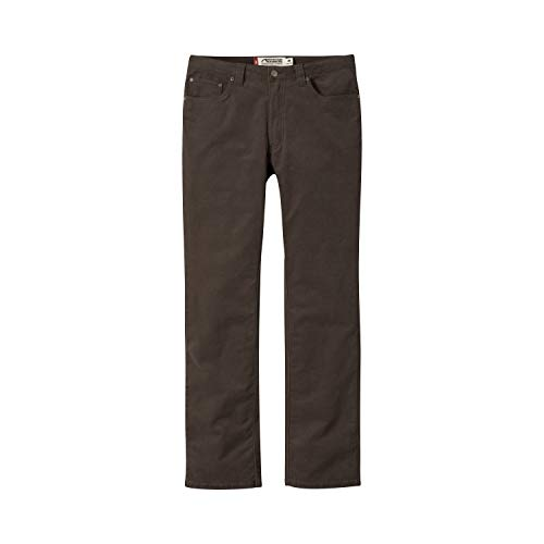 Mountain Khakis Mens Pants: Canyon Cord Pant Slim Tailored Fit - Low Rise Corduroy Fabric, Coffee, 34W 30L