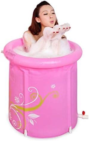 ZJHDX ピンクインフレータブルバスタブ、ポータブルプラスチックバスタブ、アダルトバスルーム用PVCバスタブ浴槽スパ
