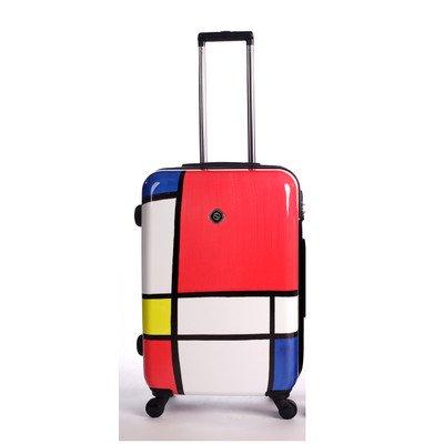 Frameless Expandable Luggage Set - NeoCover NCLGA-1201-B Primary Color Block Luggage, 24