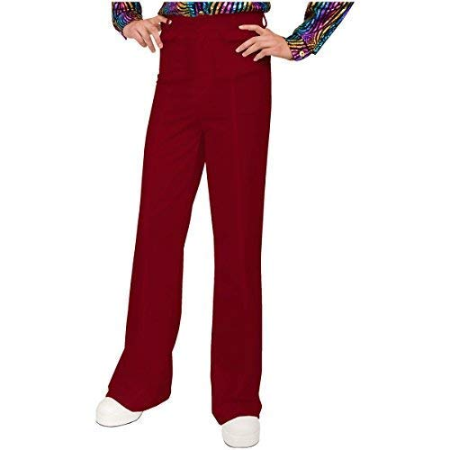 Charades Men's Disco Pants, Red, 34