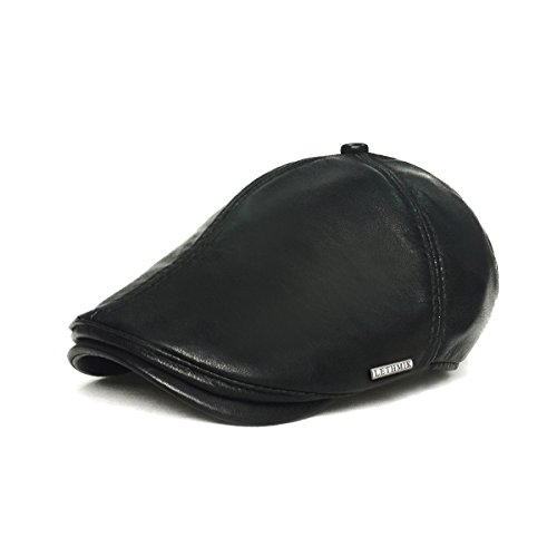 Irish Ivy Cap (lethmik Vintage Flat Hat IVY Irish Hats Gatsby newsboy Cap Cabbie Hat Stretch Black)