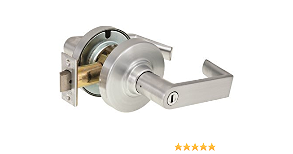 Bright Chrome Finish Tubular Lever Design Schlage Commercial ND40TLR625 ND Series Grade 1 Cylindrical Lock Privacy Function