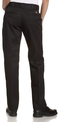 Dickies Women's Original Work Pant with Wrinkle And Stain Resistance,Black,8 Petite by Dickies (Image #3)