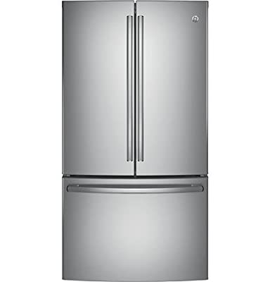 """GE GNE29GSKSS 36"""" Freestanding French-door Refrigerator with 28.5 Cu. Ft. Capacity, in Stainless steel"""