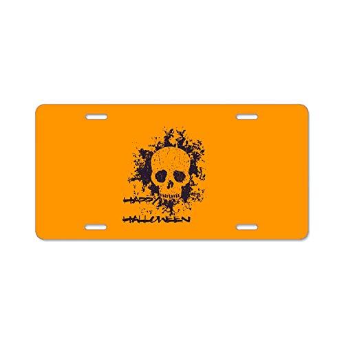 GGRGVR Halloween Skull License Plate Souvenir 12