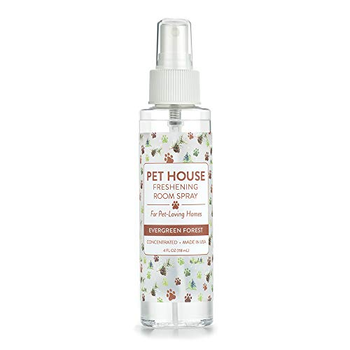 Pet House Pet Friendly Freshening Room Spray - Evergreen Forest - Concentrated Air Freshening Spray Neutralizes Pet Odor - Non-Toxic & Allergen Free Air Freshener - Effective, Fast-Acting - 4 oz
