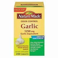 Garlic Natures Herbs (Nature Made Herbs Odorless Garlic 1250mg, 200 Tablets)