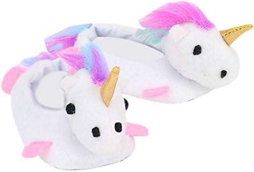 White Unicorn Slippers Rainbow Haired product image