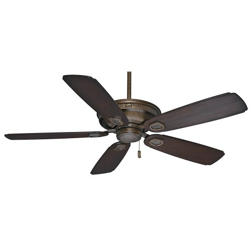 Casablanca Indoor / Outdoor Ceiling Fan, with pull chain control - Heritage 60 inch, Aged Bronze, 59527