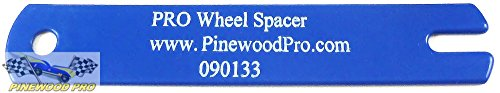 Pinewood Derby PRO Wheel Spacer Gauge Tool with Coated Surface Protects Axles from Scratches