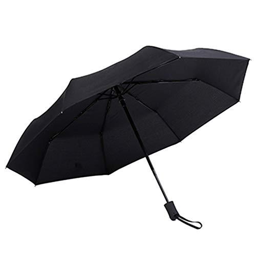 MAMaiuh Compact Travel Umbrella - Windproof, Double Canopy Construction Reinforced Canopy, Ergonomic Handle, UV Protection Auto Open/Close -Multiple Colors (BK)
