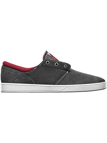 Emerica The Figueroa - Zapatillas de skateboarding para hombre gris y rojo