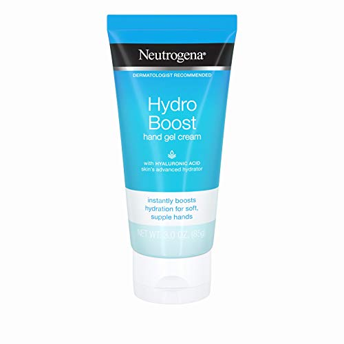 Neutrogena Hydro Boost Hydrating Hand Gel Cream with Hyaluronic Acid for Soft, Supple Hands, Light and Non-Greasy, 3 oz