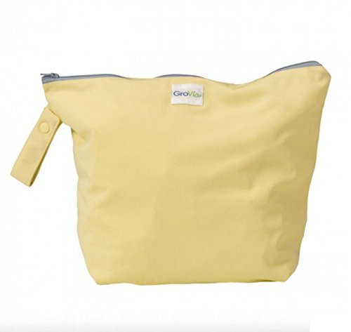 GroVia Reusable Zippered Wetbag for Baby Cloth Diapering and Moreg (Chiffon)
