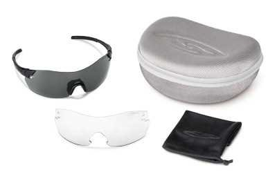 Smith Optics Elite Pivlock V2 Max Tactical Sunglass, Gray/Clear, Black by Smith Optics